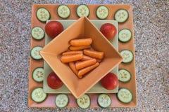 Τοπ άποψη του χορτοφάγου πιάτου Στοκ Εικόνα