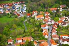 Τοπ άποψη του χωριού κοντά στο κάστρο Lichtenstein Στοκ φωτογραφίες με δικαίωμα ελεύθερης χρήσης