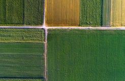 Τοπ άποψη των γεωργικών δεμάτων Στοκ εικόνα με δικαίωμα ελεύθερης χρήσης