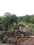 Τοπ άποψη των καταστροφών ναών Angkor Wat Στοκ Εικόνες