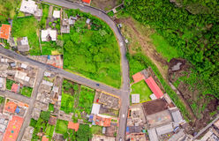 Τοπ άποψη των κτηρίων Banos de Agua Santa, Ισημερινός Στοκ φωτογραφία με δικαίωμα ελεύθερης χρήσης