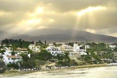 Τοπ άποψη των τραπεζών του κόλπου της Πάφος, Κύπρος, κατά τη διάρκεια της ανατολής πρωινού Στοκ φωτογραφίες με δικαίωμα ελεύθερης χρήσης