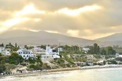 Τοπ άποψη των τραπεζών του κόλπου της Πάφος, Κύπρος, κατά τη διάρκεια της ανατολής πρωινού Στοκ Εικόνα