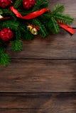 Τοπ άποψη υποβάθρου Χριστουγέννων άσπρη ξύλινη Στοκ εικόνες με δικαίωμα ελεύθερης χρήσης