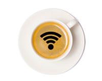 Τοπ άποψη φλυτζανιών καφέ που απομονώνεται στο άσπρο υπόβαθρο με το ψαλίδισμα στοκ φωτογραφία με δικαίωμα ελεύθερης χρήσης