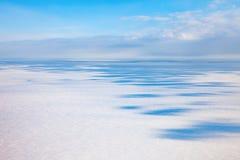 Τοπ άποψη χειμερινό tundra στοκ φωτογραφίες