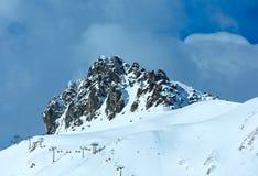 Τοπ άποψη χειμερινών βουνών (Αυστρία) Στοκ φωτογραφία με δικαίωμα ελεύθερης χρήσης