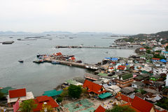 Τοπ άποψη koh sichang, νησί Στοκ Φωτογραφίες