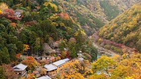 Τοπ άποψη Arashiyama στην πτώση Στοκ Εικόνα
