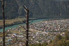 Τοπ άποψη Katun στοκ εικόνα