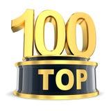Τοπ βραβείο 100 Στοκ Εικόνα