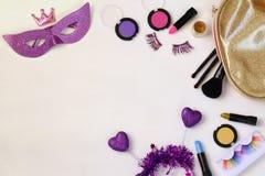 Τοπ εικόνα άποψης καρναβαλιού makeup Στοκ Φωτογραφίες