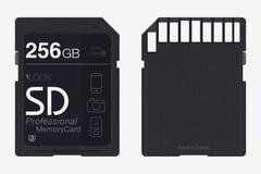 Τοπ κάρτα μνήμης άποψης SD απομονωμένη τσιπ μνήμη Στοκ εικόνα με δικαίωμα ελεύθερης χρήσης