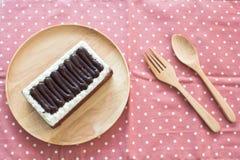 Τοπ κέικ σοκολάτας Στοκ φωτογραφίες με δικαίωμα ελεύθερης χρήσης