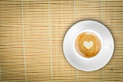 Τοπ καφές μπαμπού Στοκ Φωτογραφία