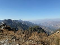 Τοπ κορυφή άποψης Manali του λόφου στοκ φωτογραφία
