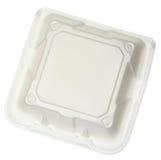 Τοπ κλειστό άποψη Styrofoam εμπορευματοκιβώτιο τροφίμων Στοκ εικόνα με δικαίωμα ελεύθερης χρήσης