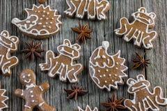 Τοπ μελοψώματα Χριστουγέννων άποψης με το γλυκάνισο αστεριών Στοκ Εικόνες