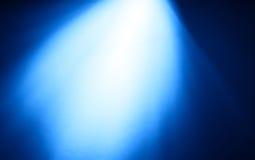 Τοπ μπλε ακτίνα του ελαφριού υποβάθρου bokeh Στοκ Φωτογραφία