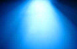 Τοπ μπλε ακτίνα του ελαφριού υποβάθρου bokeh Στοκ Εικόνα