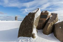 Τοπ πέτρες βουνών της Γερμανίας Brocken Στοκ φωτογραφία με δικαίωμα ελεύθερης χρήσης