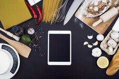 Τοπ πρότυπο κουζινών άποψης στοκ εικόνες