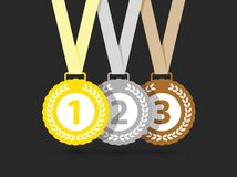 Τοπ τρία μετάλλια ελεύθερη απεικόνιση δικαιώματος