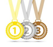 Τοπ τρία μετάλλια διανυσματική απεικόνιση