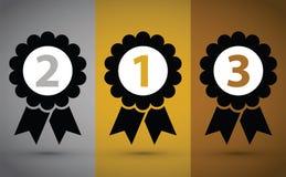 Τοπ τρία μετάλλια απεικόνιση αποθεμάτων