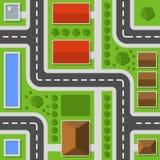 Τοπ όψη πόλεων Άνευ ραφής σχέδιο πόλης χαρτών διάνυσμα ελεύθερη απεικόνιση δικαιώματος