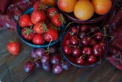 Τοπ viewStrawberry θερινών μούρων Στοκ εικόνα με δικαίωμα ελεύθερης χρήσης