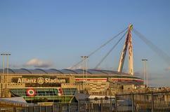 Τορίνο, Ιταλία, Piedmont - 8 Μαρτίου 2018 στις 18:15 προς το ηλιοβασίλεμα Το στάδιο Allianz στο Τορίνο Στοκ Εικόνα