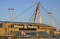 Τορίνο, Ιταλία, Piedmont - 8 Μαρτίου 2018 στις 18:15 προς το ηλιοβασίλεμα Το στάδιο Allianz στο Τορίνο Στοκ εικόνες με δικαίωμα ελεύθερης χρήσης