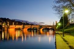 Τορίνο (Τουρίνο), ποταμός Po και γέφυρα Umberto I Στοκ φωτογραφίες με δικαίωμα ελεύθερης χρήσης