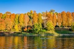 Τορίνο & x28 Torino& x29  ποταμός Po Στοκ φωτογραφία με δικαίωμα ελεύθερης χρήσης