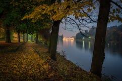 Τορίνο & x28 Torino& x29  Parco del Valentino και ποταμός Po Στοκ Φωτογραφία