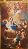 ΤΟΡΙΝΟ, ΙΤΑΛΙΑ - 13 ΜΑΡΤΊΟΥ 2017: Η ζωγραφική Nativity στην εκκλησία Chiesa Di Santa Teresia από το Sebastiano Conca 1730 Στοκ Εικόνες