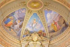 ΤΟΡΙΝΟ, ΙΤΑΛΙΑ - 13 ΜΑΡΤΊΟΥ 2017: Η νωπογραφία του αναστημένου Ιησού κύριο apse Church Chiesa Di Santo Tomaso Στοκ φωτογραφίες με δικαίωμα ελεύθερης χρήσης