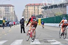 12η έκδοση του τροπαίου πόλεων του Τορίνου του triathlon Στοκ φωτογραφία με δικαίωμα ελεύθερης χρήσης