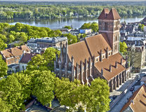 Τορούν Πολωνία - παλαιά εκκλησία στην τεχνική hdr Στοκ φωτογραφία με δικαίωμα ελεύθερης χρήσης