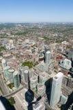 Τορόντο από τον πύργο ΣΟ, Οντάριο, Καναδάς στοκ φωτογραφία