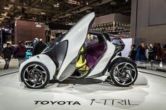 Τορόντο, Καναδάς - 2018-02-19: Έννοια της Toyota ι-TRIL που επιδεικνύεται στην έκθεση εταιριών μηχανών της Toyota το 2018 Στοκ Εικόνες