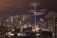 Τορόντο Καναδάς τη νύχτα Στοκ Εικόνες