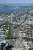 Τορόντο, Οντάριο, Καναδάς από τον πύργο ΣΟ Στοκ φωτογραφίες με δικαίωμα ελεύθερης χρήσης