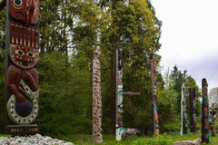 τοτέμ πόλων της Αλάσκας Στοκ εικόνα με δικαίωμα ελεύθερης χρήσης