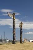 τοτέμ σειράς πόλων της Αλάσκας Στοκ εικόνα με δικαίωμα ελεύθερης χρήσης