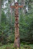 Τοτέμ stak στα ξύλα στοκ φωτογραφίες με δικαίωμα ελεύθερης χρήσης