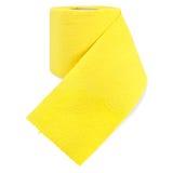 τουαλέτα διατρήσεων εγγράφου κίτρινη Στοκ Εικόνα