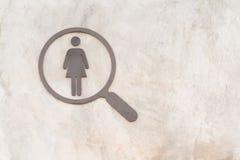 Τουαλέτα σημαδιών για την κυρία στοκ εικόνες με δικαίωμα ελεύθερης χρήσης
