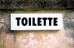 τουαλέτα σημαδιών στοκ εικόνες με δικαίωμα ελεύθερης χρήσης